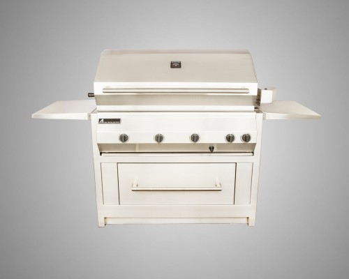 8 Burner Stand-Alone Grill with Rotisserie and Drawer Cart