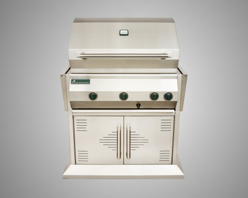 6 Burner Stand-Alone Grill with Rotisserie and 2 Door Cart