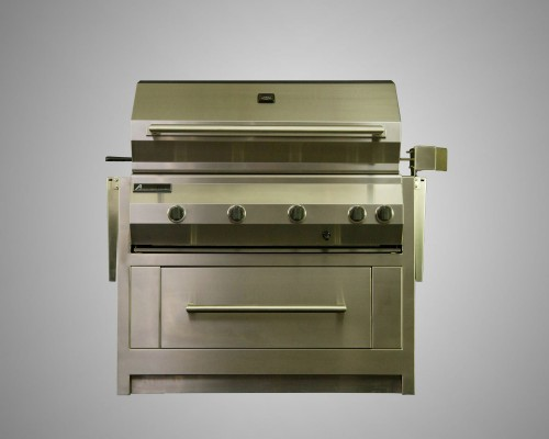 10 Burner Stand-Alone Grill with Rotisserie and Drawer Cart