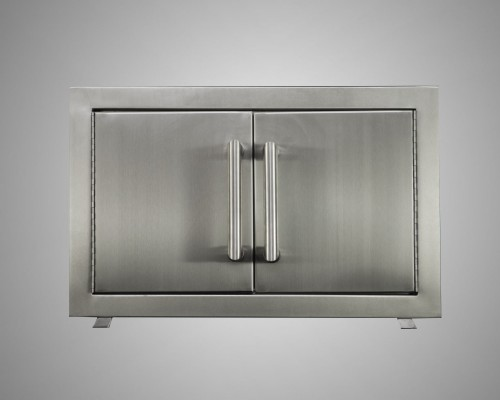 Stainless Steel Double Door Built-In with Trim