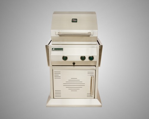 4 Burner Stand-Alone Grill with Rotisserie and Single Door Cart
