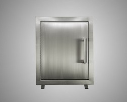 Stainless Steel Single Door Built-In with Trim