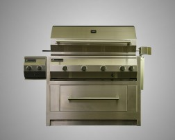 8 Burner Stand-Alone Grill with Rotisserie, Dual Side Burner and Drawer Cart
